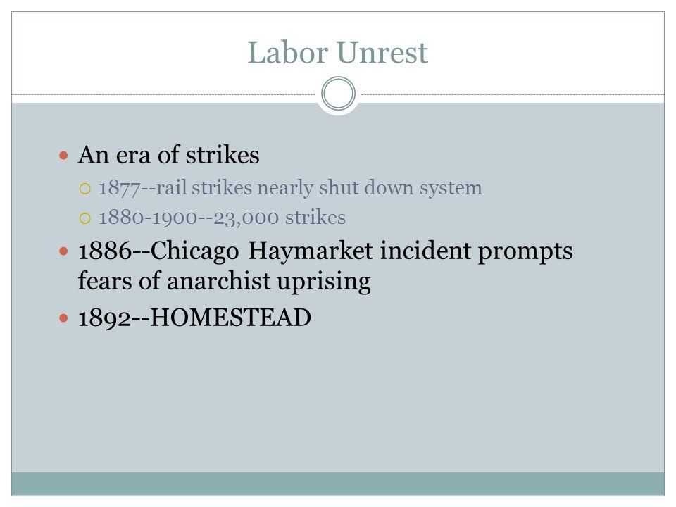 Labor Unrest An era of strikes
