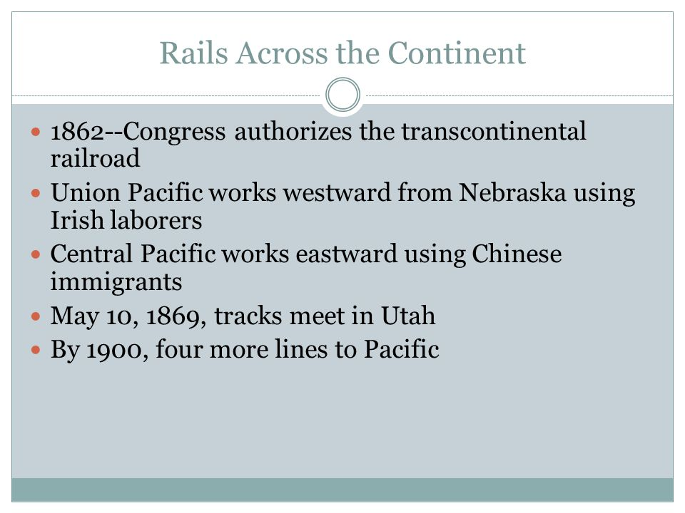 Rails Across the Continent