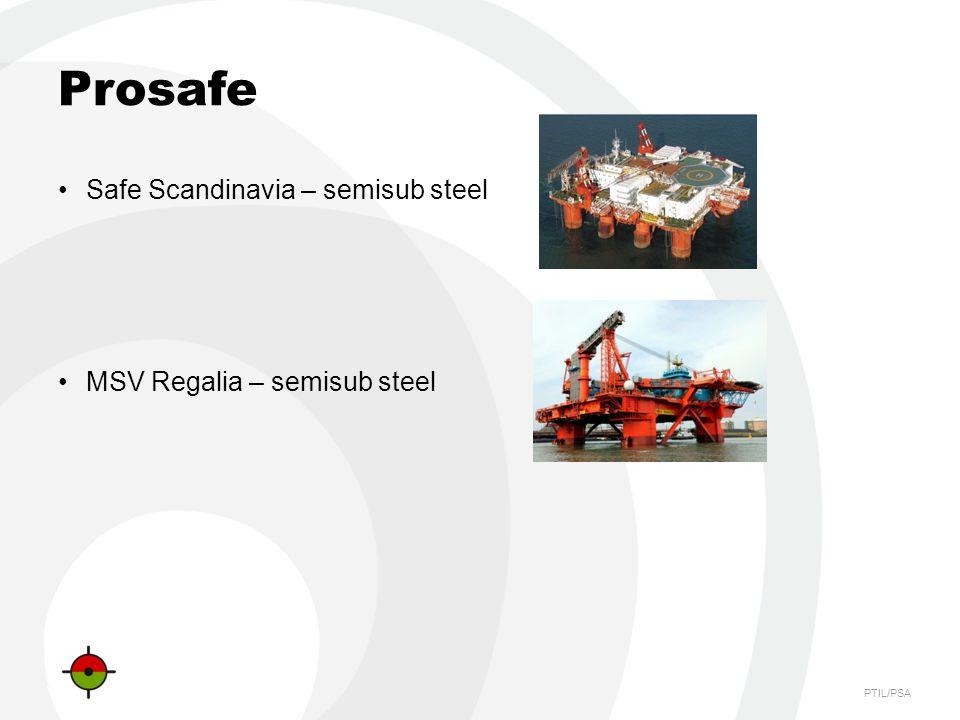 Prosafe Safe Scandinavia – semisub steel MSV Regalia – semisub steel