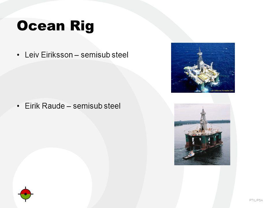 Ocean Rig Leiv Eiriksson – semisub steel Eirik Raude – semisub steel