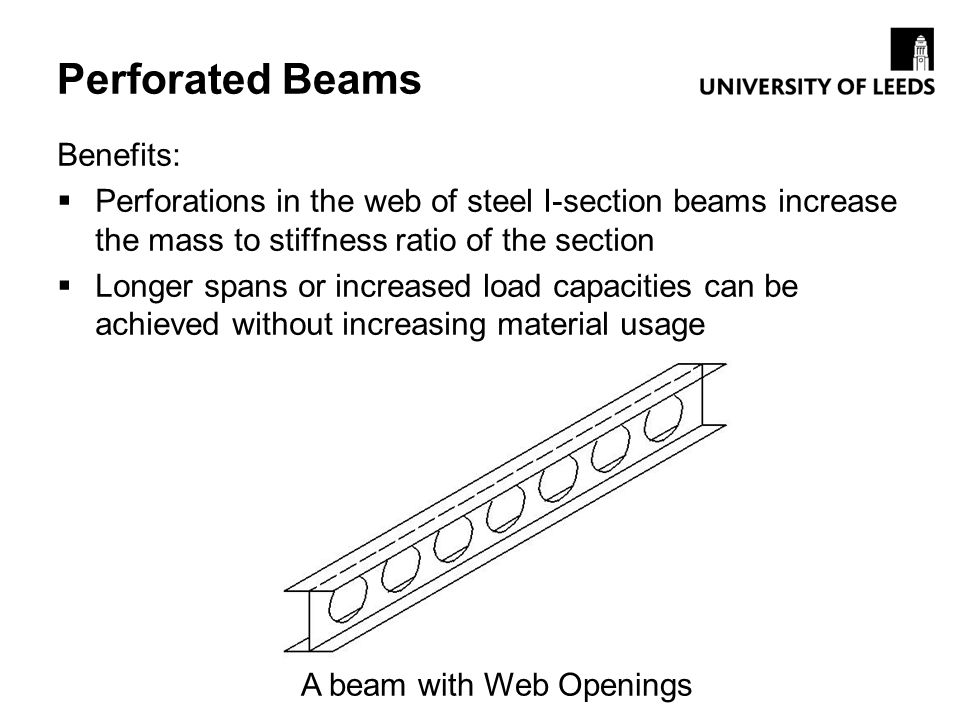 A beam with Web Openings