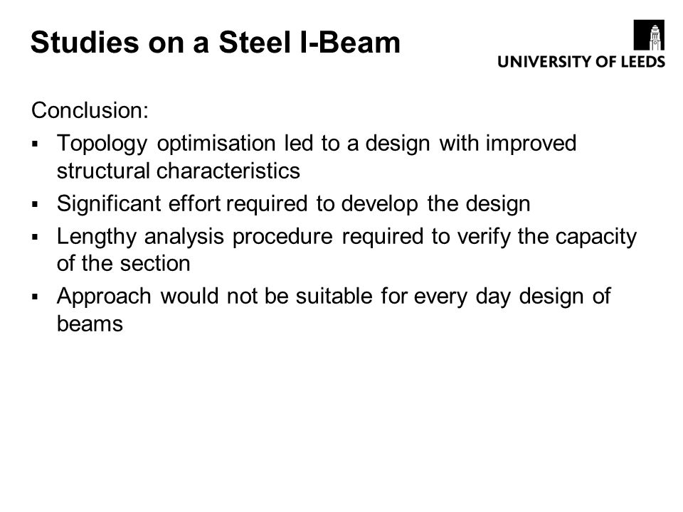 Studies on a Steel I-Beam