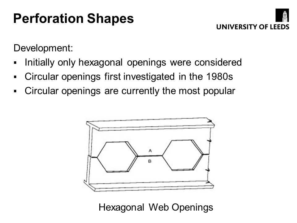 Hexagonal Web Openings
