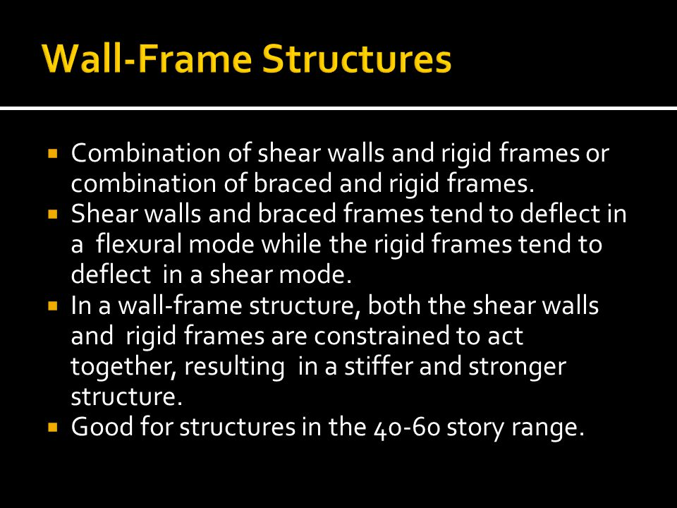 Wall-Frame Structures