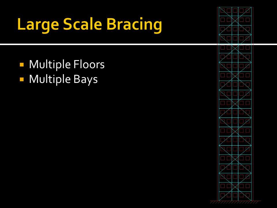 Large Scale Bracing Multiple Floors Multiple Bays