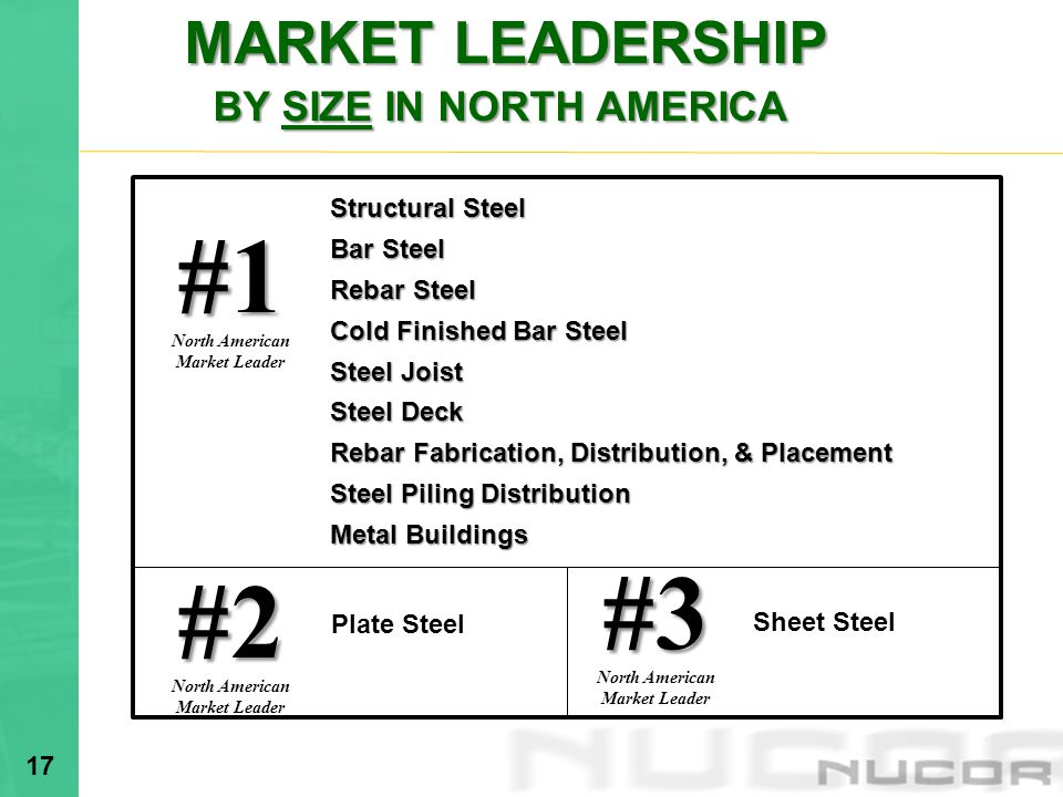 MARKET LEADERSHIP BY SIZE IN NORTH AMERICA