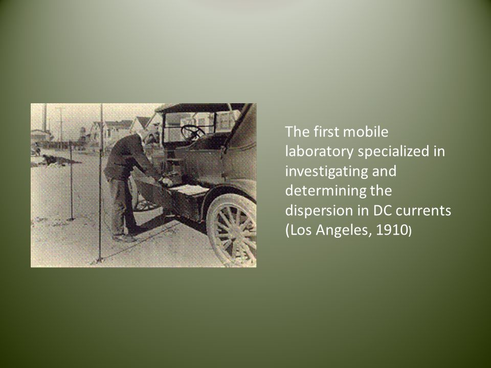 The first mobile laboratory specialized in investigating and determining the dispersion in DC currents