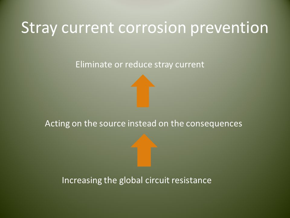 Stray current corrosion prevention