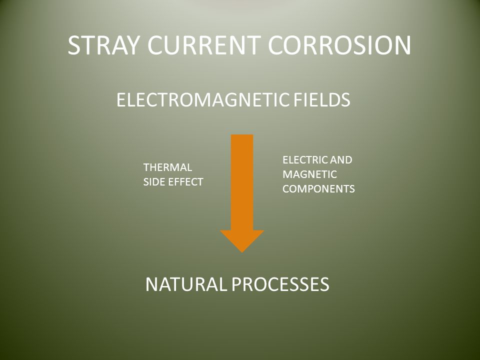STRAY CURRENT CORROSION