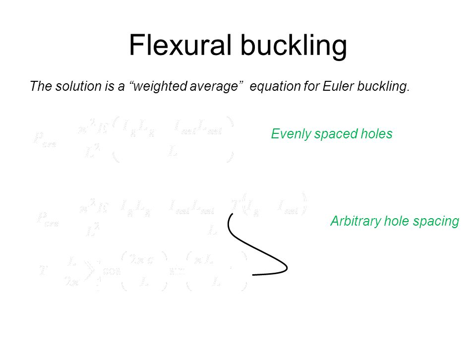 Flexural buckling Weighted average of moment of inertia!