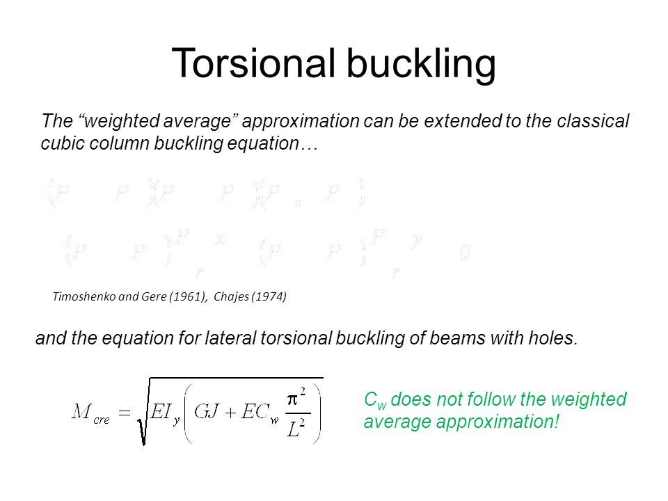 Torsional buckling YES! Need to investigate…