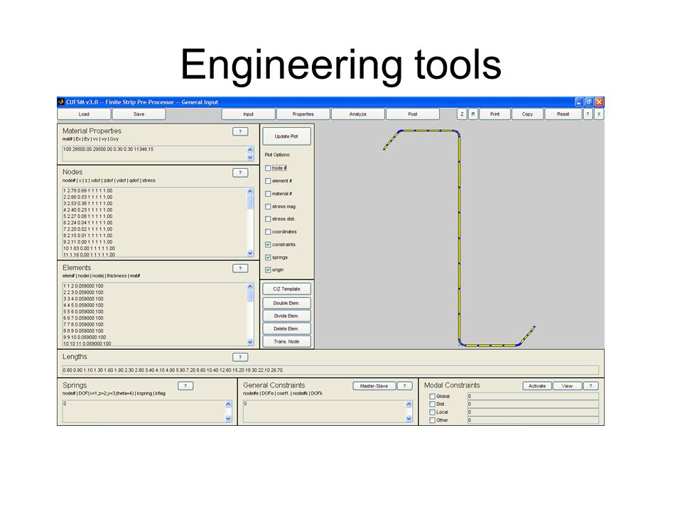 Engineering tools Fatigue, stress concentrations, and capacity at the net cross section are also important.