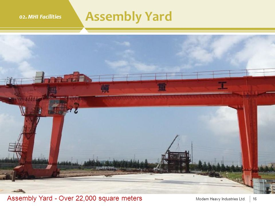 Assembly Yard Assembly Yard - Over 22,000 square meters