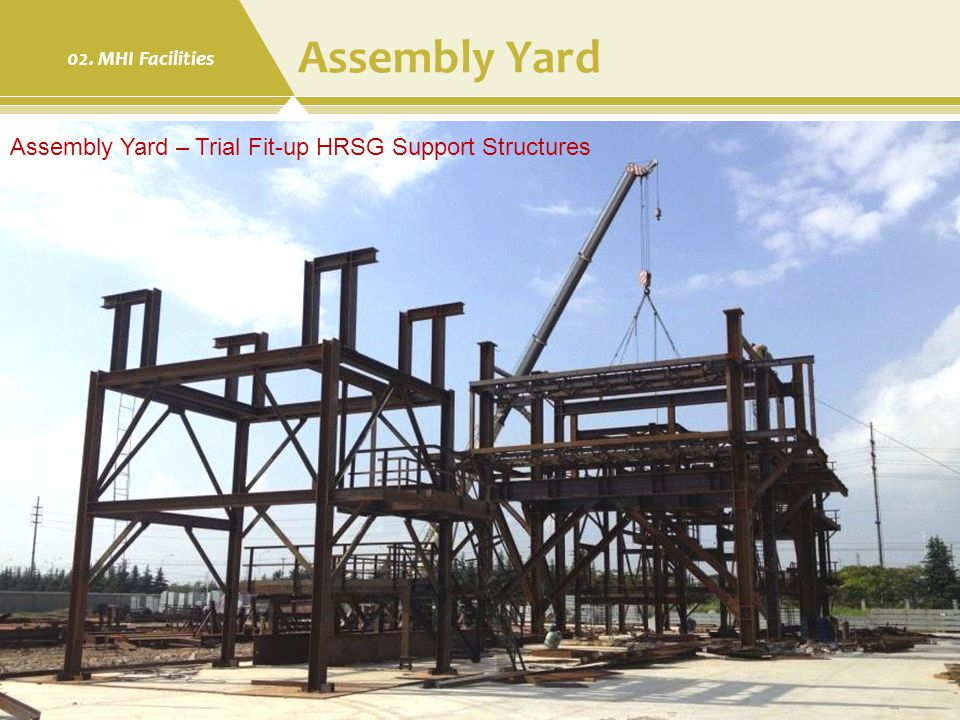 Assembly Yard Assembly Yard – Trial Fit-up HRSG Support Structures