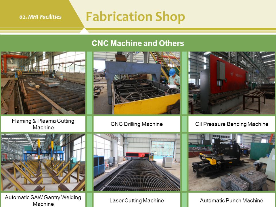 Fabrication Shop CNC Machine and Others 02. MHI Facilities