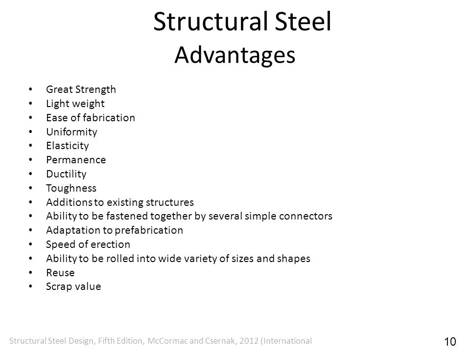 Structural Steel Advantages Great Strength Light weight