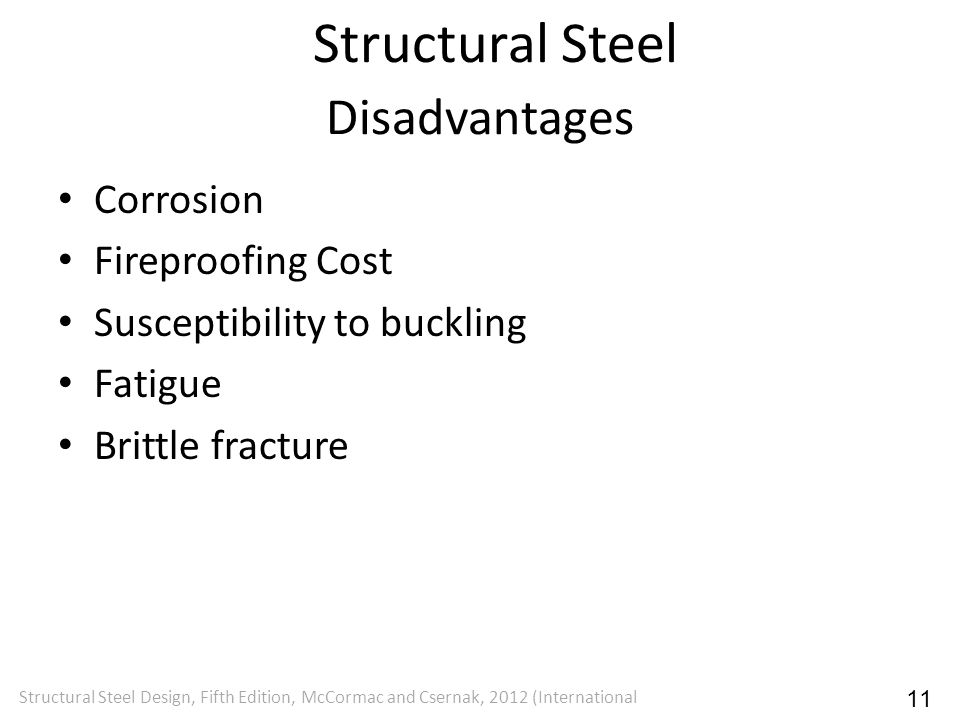 Structural Steel Disadvantages Corrosion Fireproofing Cost