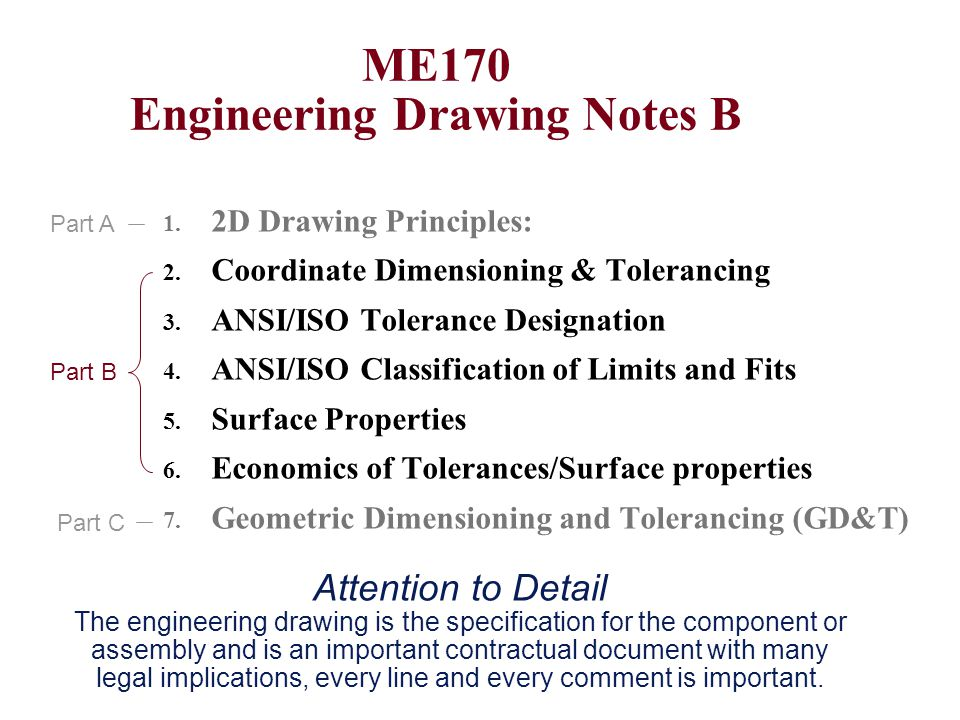 ME170 Engineering Drawing Notes B