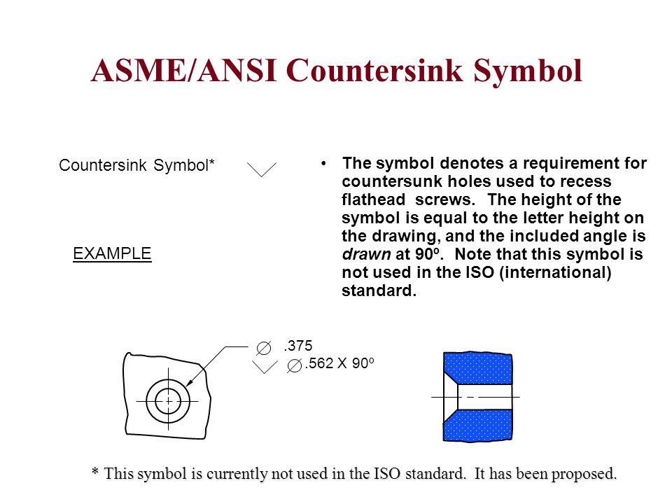 ASME/ANSI Countersink Symbol