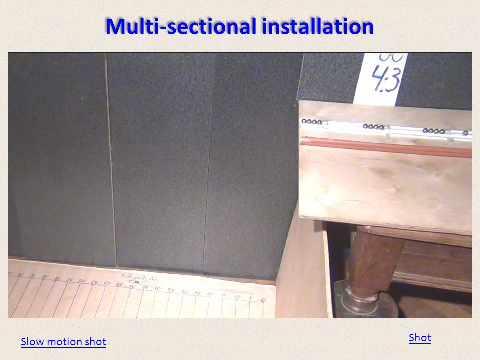 Multi-sectional installation