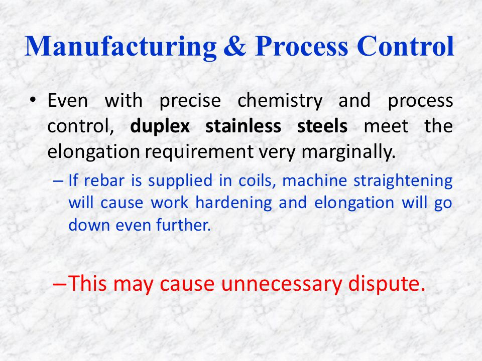 Manufacturing & Process Control