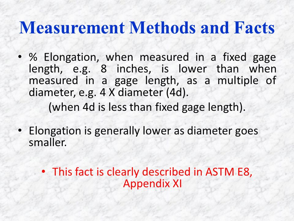 Measurement Methods and Facts