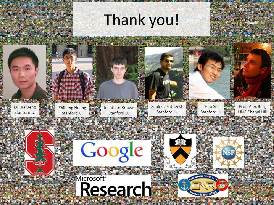 Thank you! Prof. Alex Berg UNC Chapel Hill Dr. Jia Deng Stanford U.