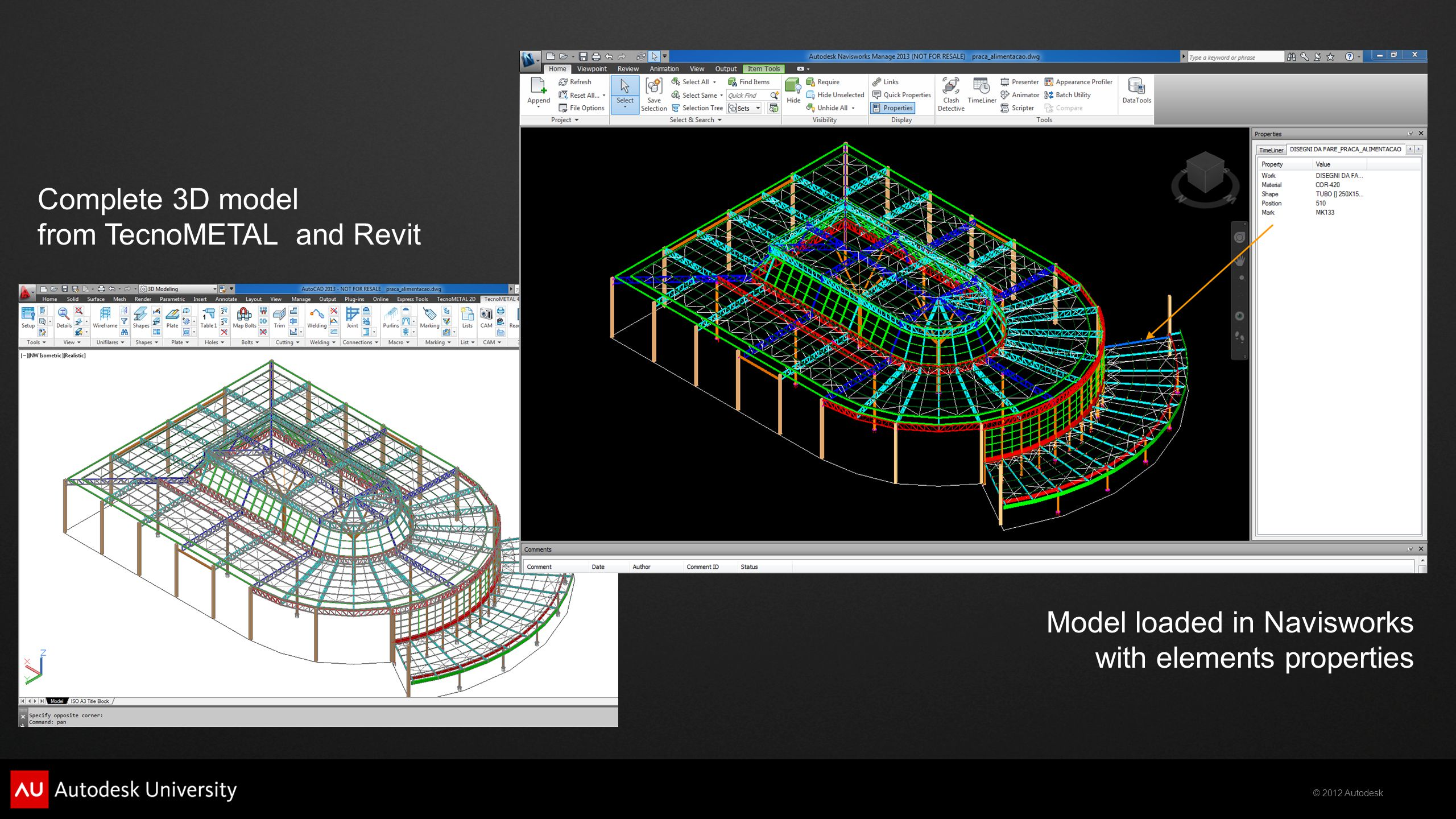 Complete 3D model from TecnoMETAL and Revit