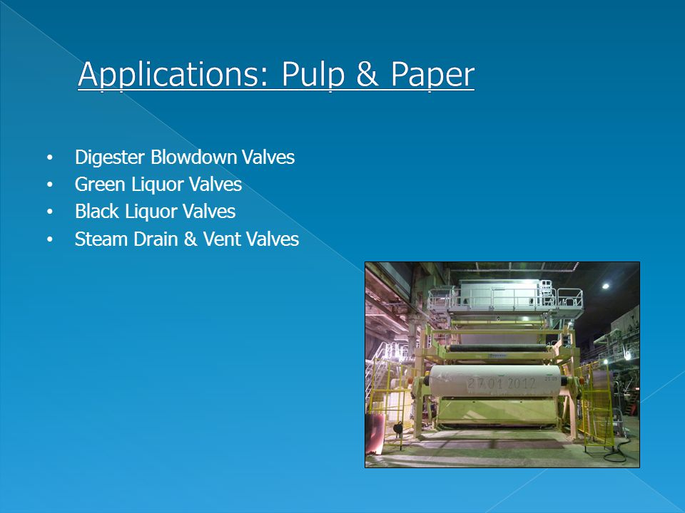 Applications: Pulp & Paper