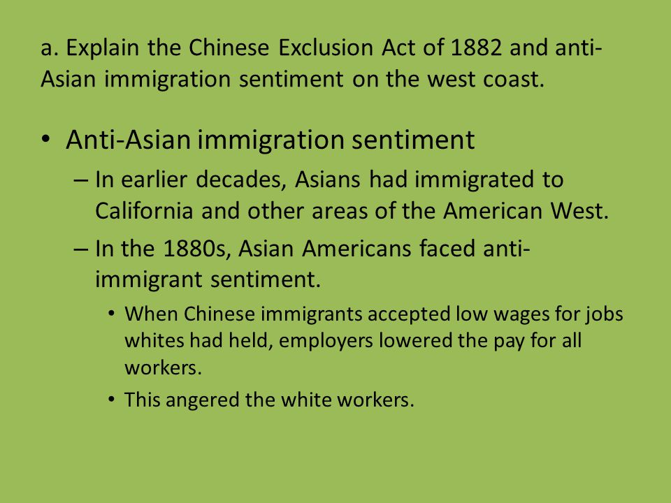Anti-Asian immigration sentiment