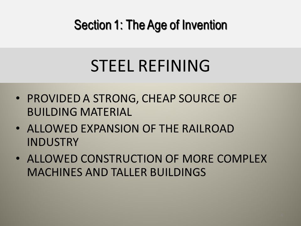Section 1: The Age of Invention