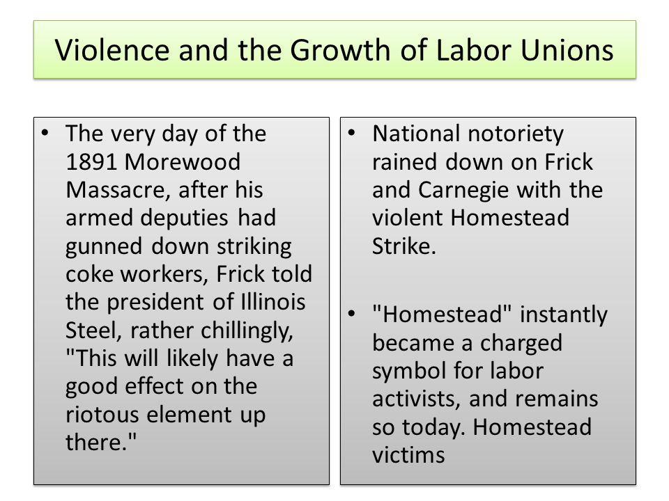 Violence and the Growth of Labor Unions