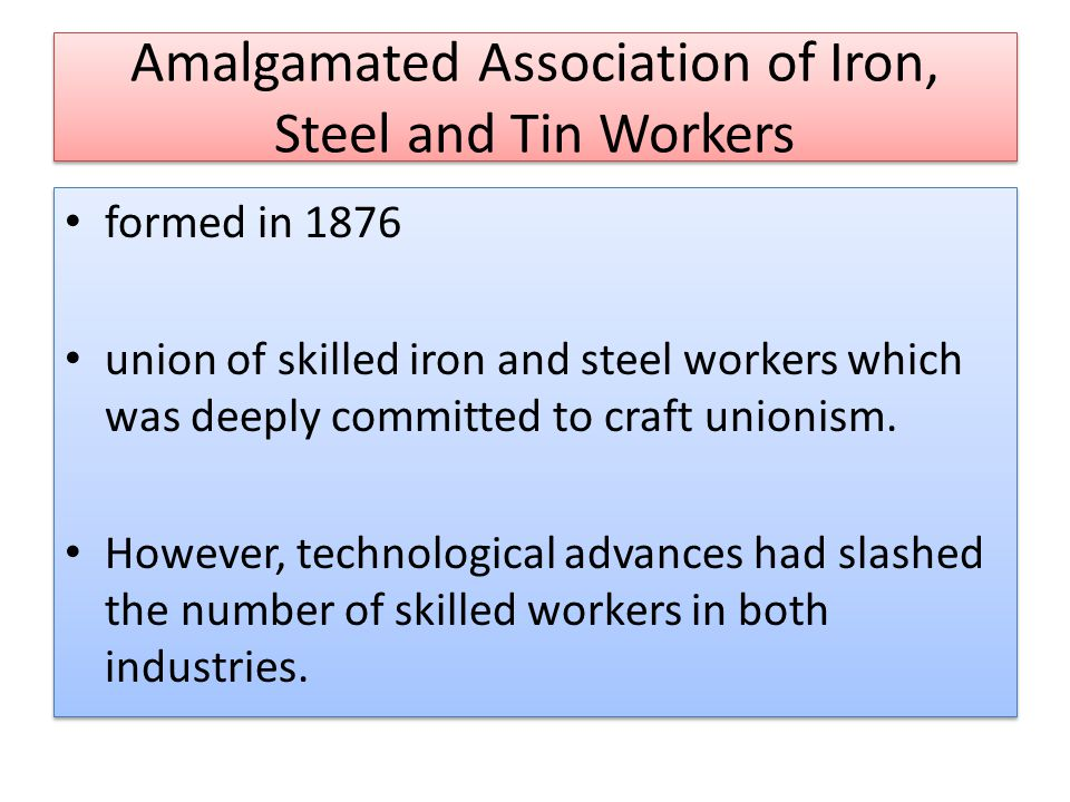Amalgamated Association of Iron, Steel and Tin Workers