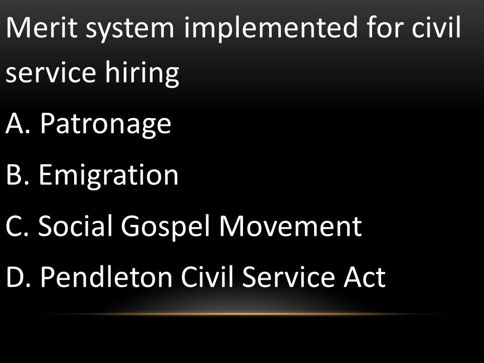 Merit system implemented for civil service hiring
