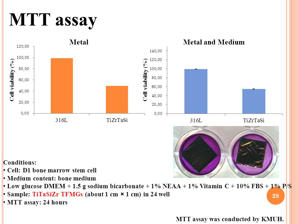 MTT assay Conditions: Cell: D1 bone marrow stem cell