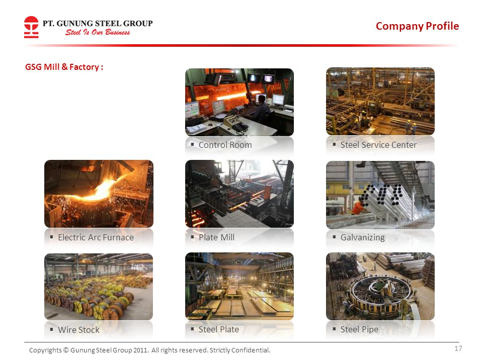 Company Profile GSG Mill & Factory : Control Room Steel Service Center
