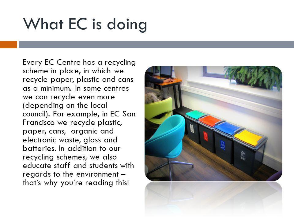 What EC is doing