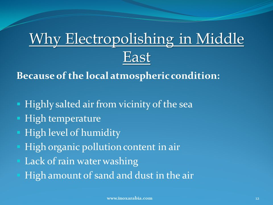 Why Electropolishing in Middle East