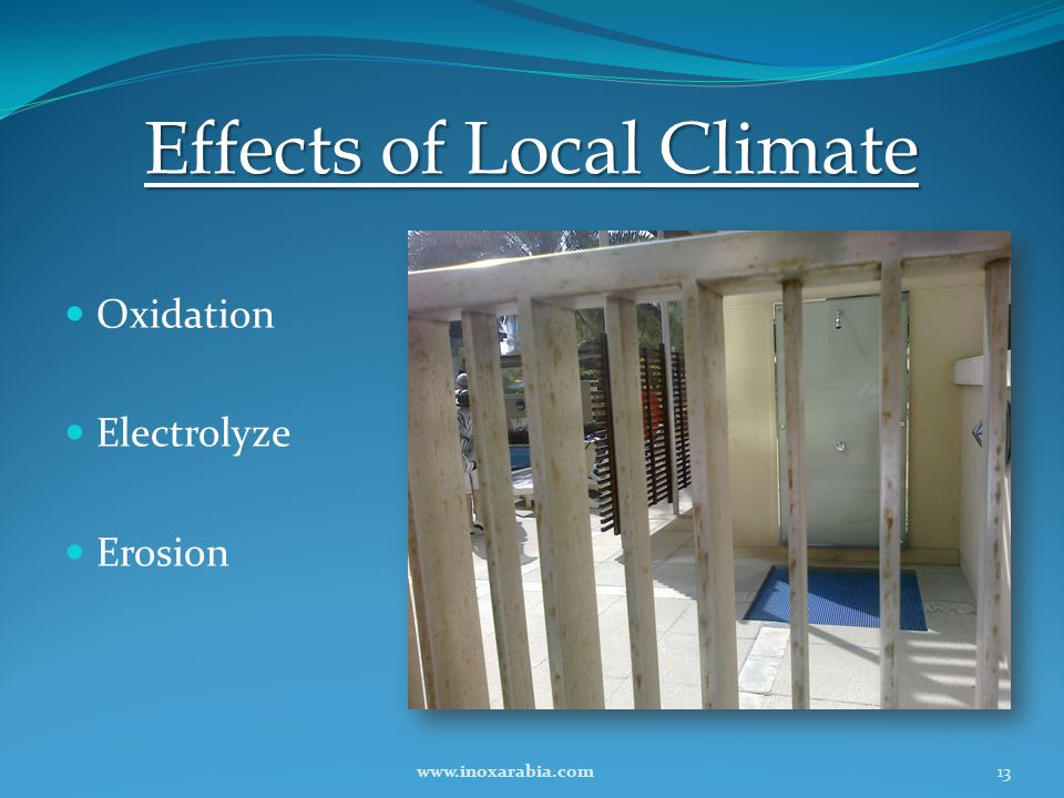 Effects of Local Climate