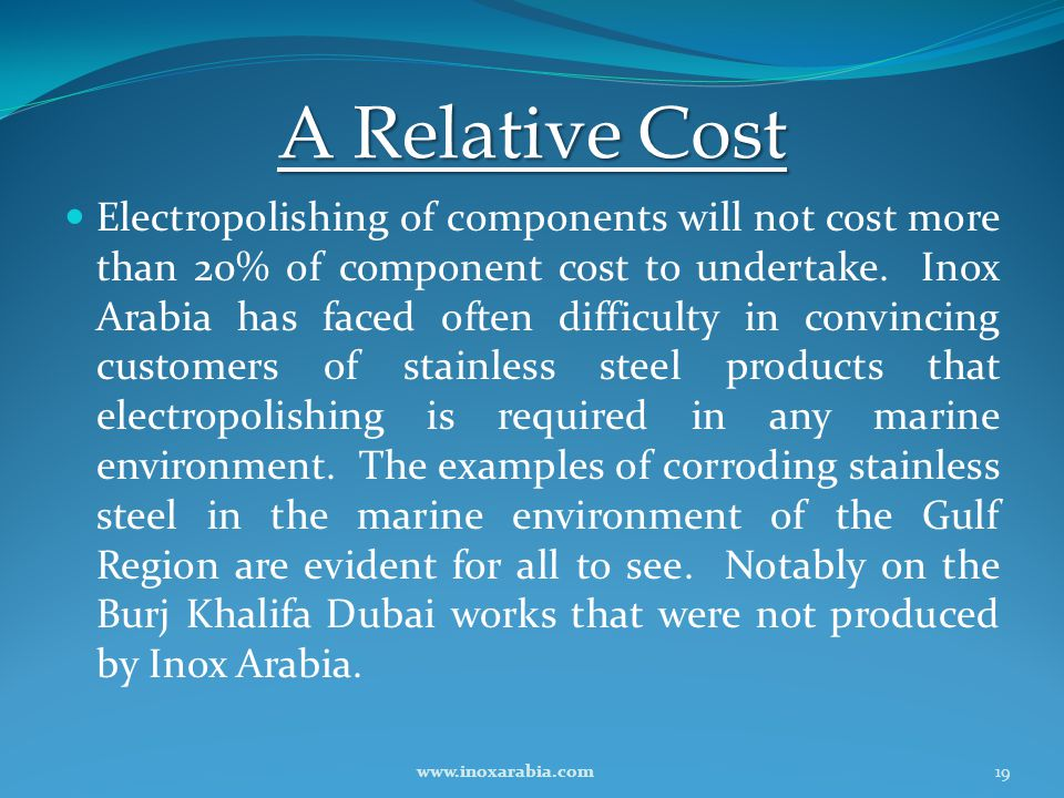 A Relative Cost