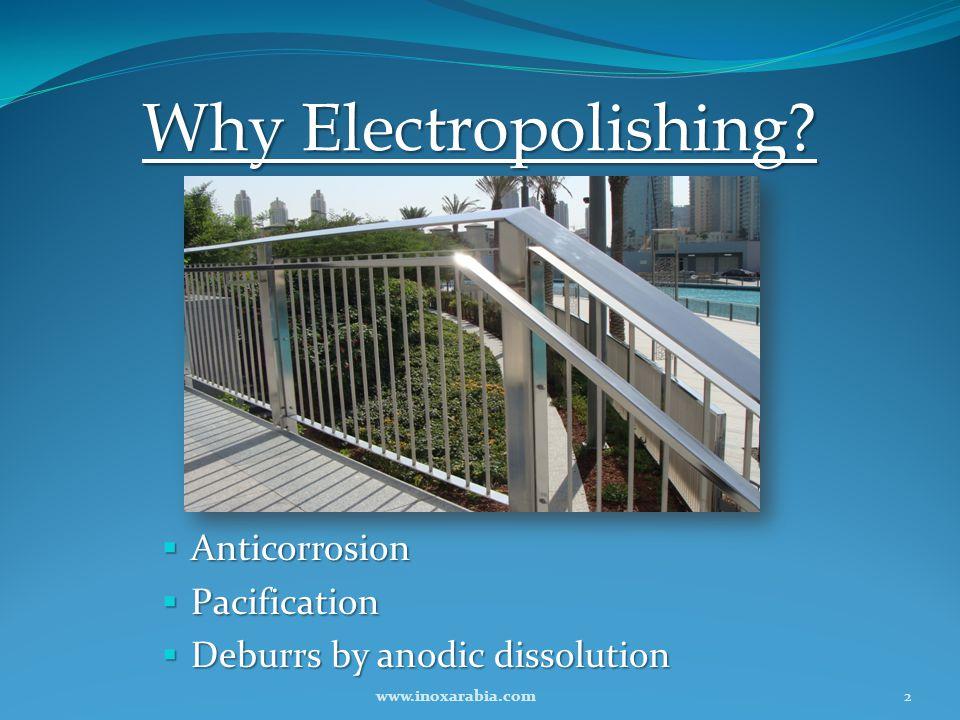 Why Electropolishing Anticorrosion Pacification