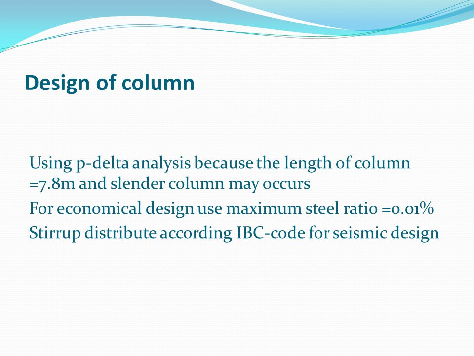 Design of column