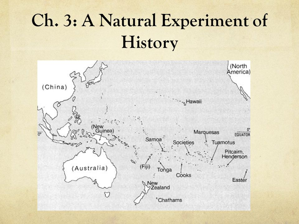 Ch. 3: A Natural Experiment of History