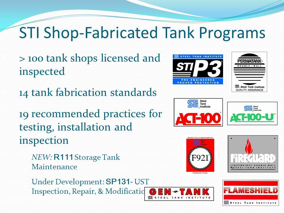 STI Shop-Fabricated Tank Programs
