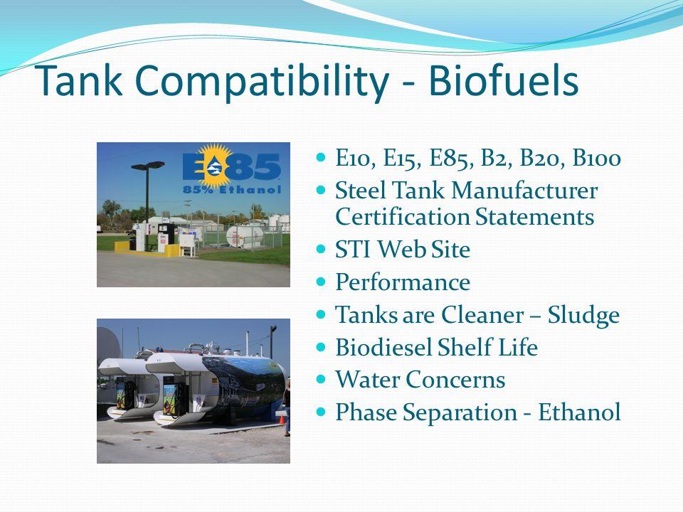 Tank Compatibility - Biofuels