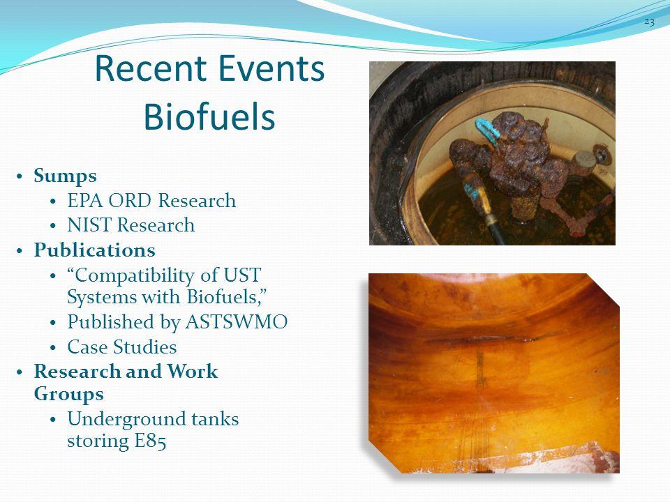 Recent Events Biofuels
