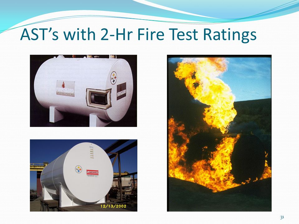 AST's with 2-Hr Fire Test Ratings