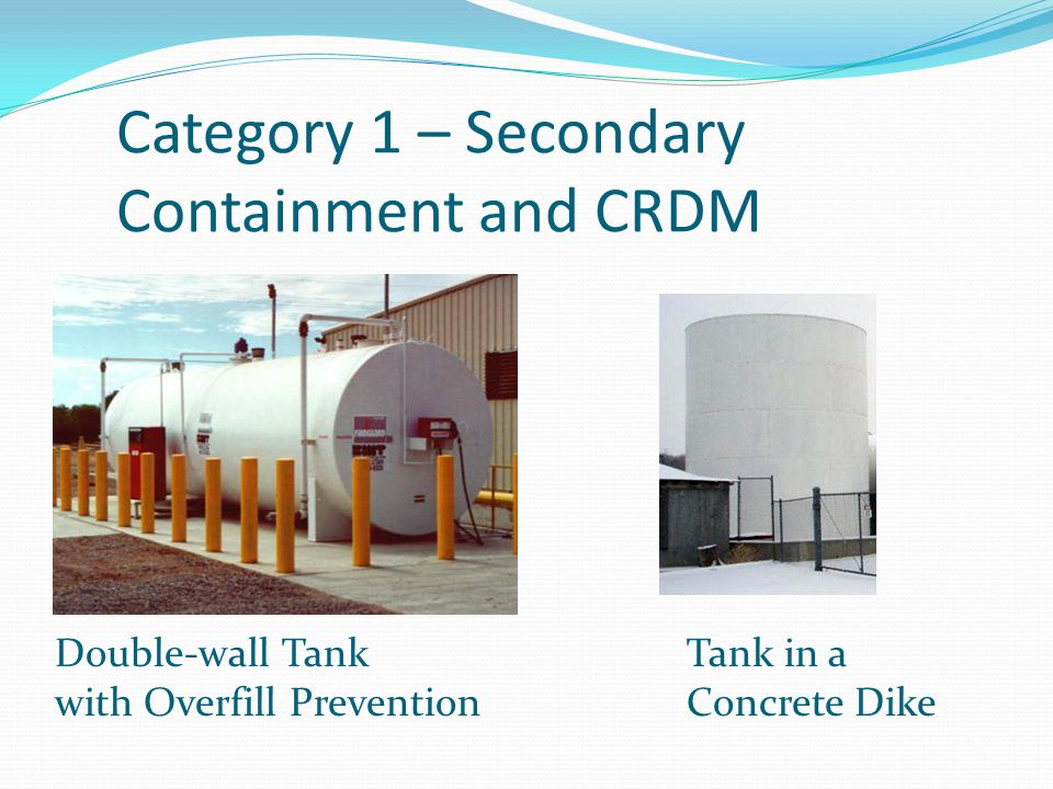 Category 1 – Secondary Containment and CRDM
