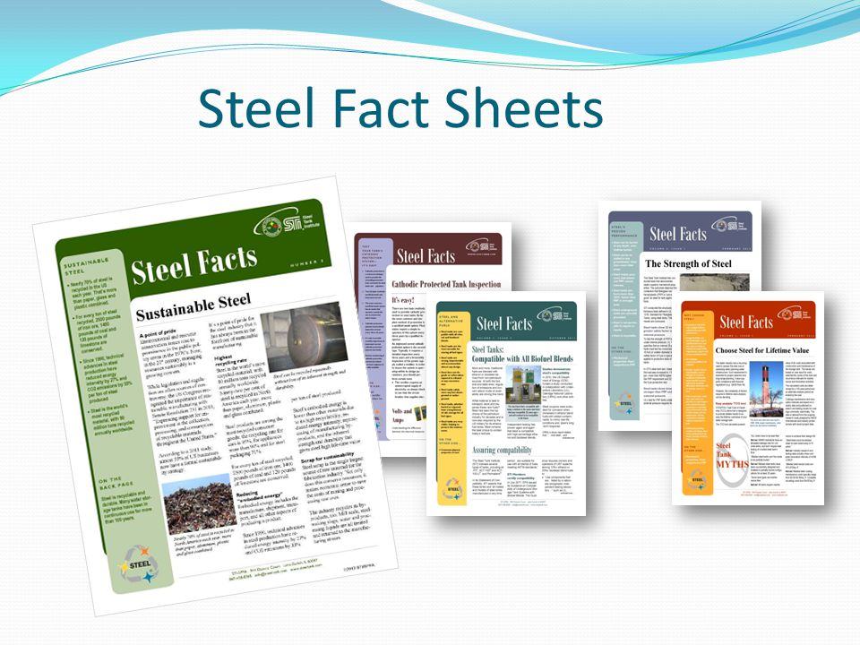Steel Fact Sheets