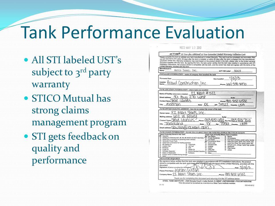 Tank Performance Evaluation